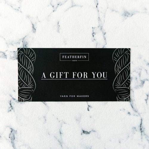 Featherfin Yarn Gift Card Geschenkgutschein Voucher